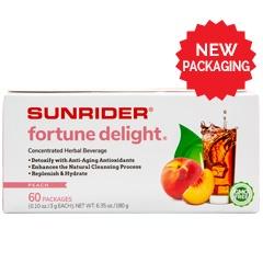 Sunrider® Fortune Delight Lemon 60/3 g Packs (0.10 oz./3 g each bag)